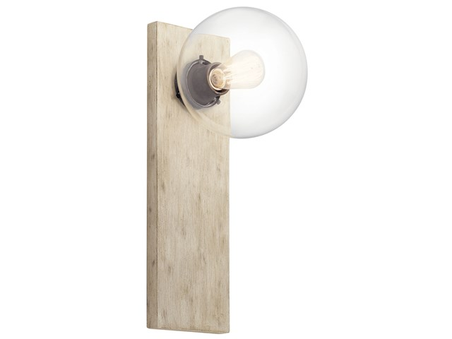 Marquee 1 Light Wall Sconce White Washed Wood