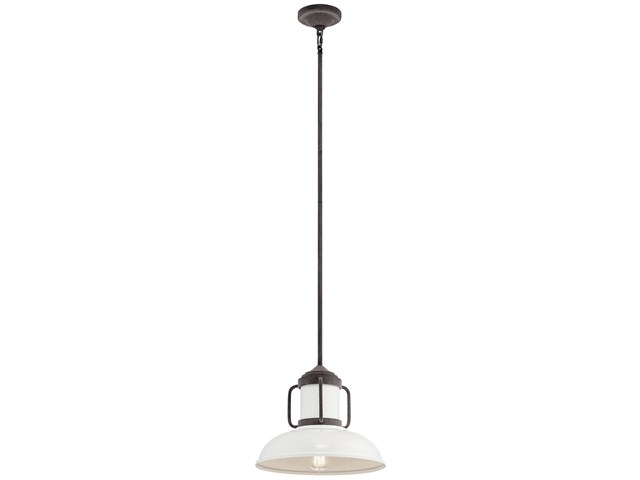 Jenson 1 Light Pendant Weathered Zinc