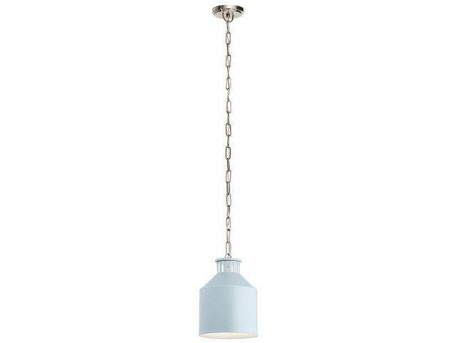 Montauk 1 Light Mini Pendant Light Blue