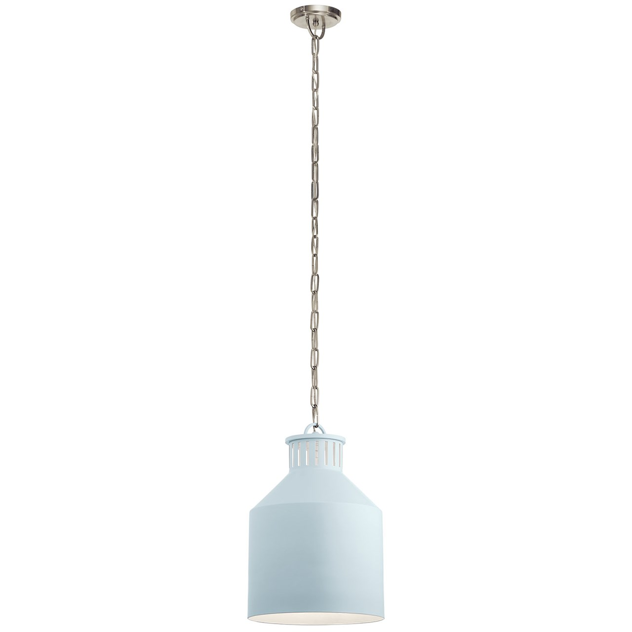 Montauk 3 Light Pendant Light Blue