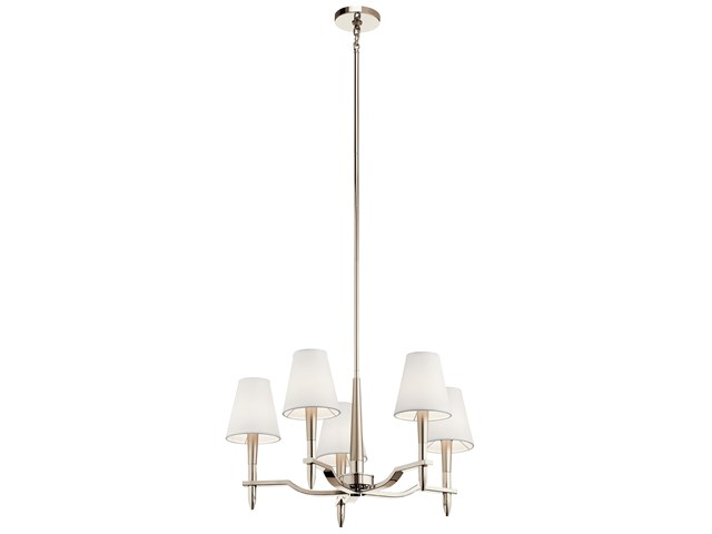 Kinsey™ 5 Light Chandelier Polished Nickel™