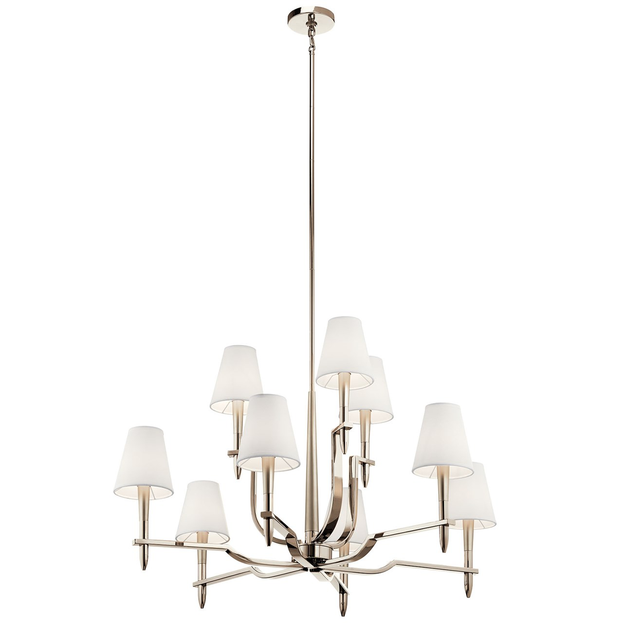 Kinsey™ 9 Light Chandelier Polished Nickel™