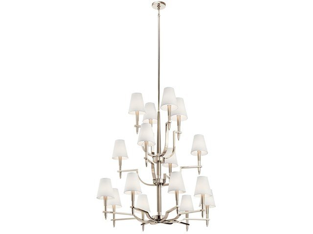Kinsey™ 16 Light Foyer Chandelier Polished Nickel™