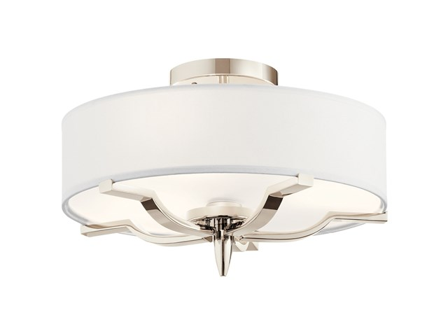 Kinsey™ 3 Light Flush Mount Polished Nickel™