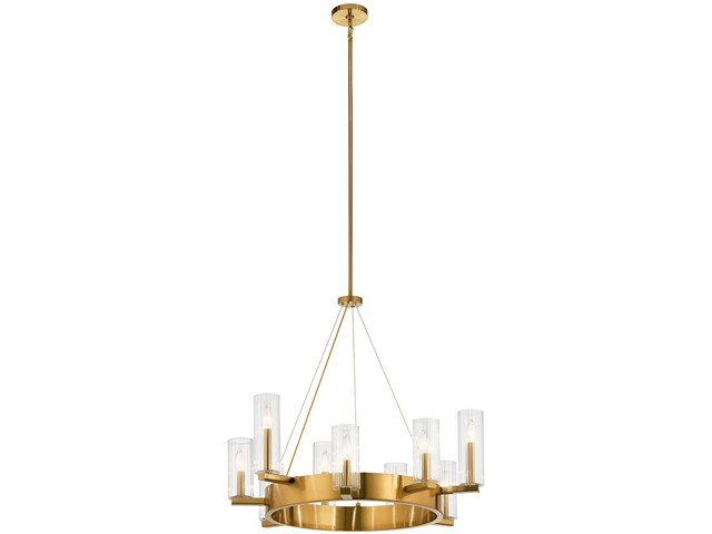 Cleara™ 9 Light Chandelier Fox Gold