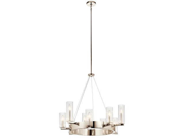 Cleara™ 9 Light Chandelier Polished Nickel™