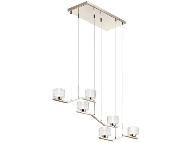 Lasus™ 6 Light LED Linear Chandelier Polished Nickel™