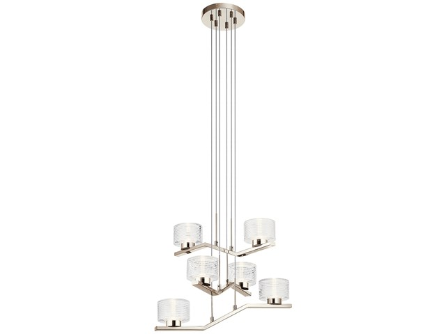 Lasus™ 6 Light LED Chandelier Polished Nickel™