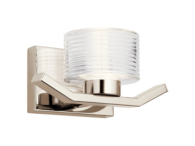 Lasus™ 1 Light LED Wall Sconce Polished Nickel