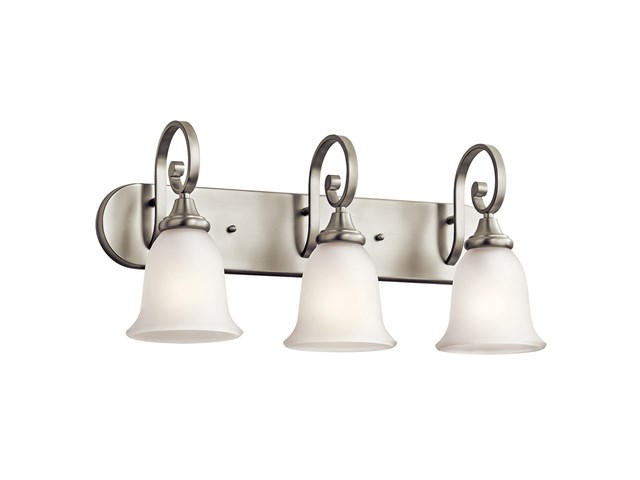 Monroe™ 3 Light Vanity Light with LED Bulbs Brushed Nickel