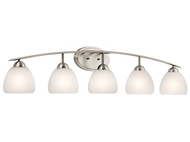 Progress Lighting Calven Collection 4 Light Brushed Nickel: Calleigh 3 Light Vanity Light Brushed Nickel