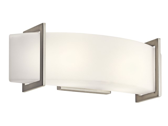 Crescent View 2 Light Wall Sconce Brushed Nickel