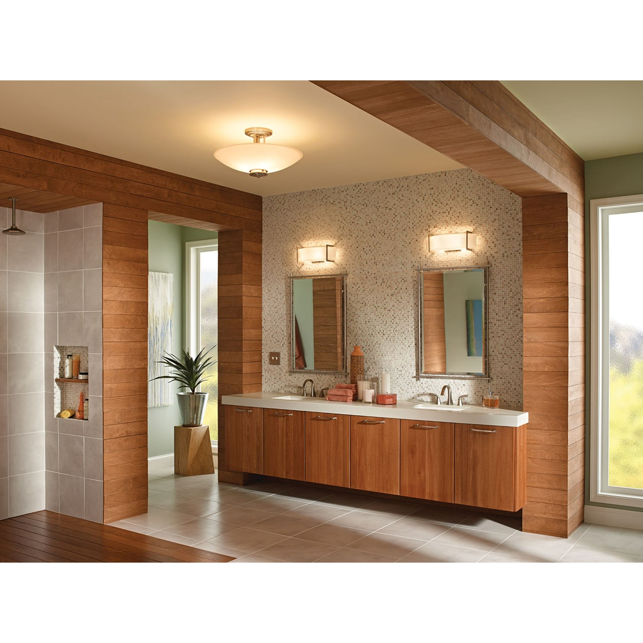 "Crescent View 24"" Linear Vanity Light Brushed Nickel"