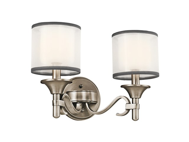 Lacey™ 2 Light Vanity Light Antique Pewter