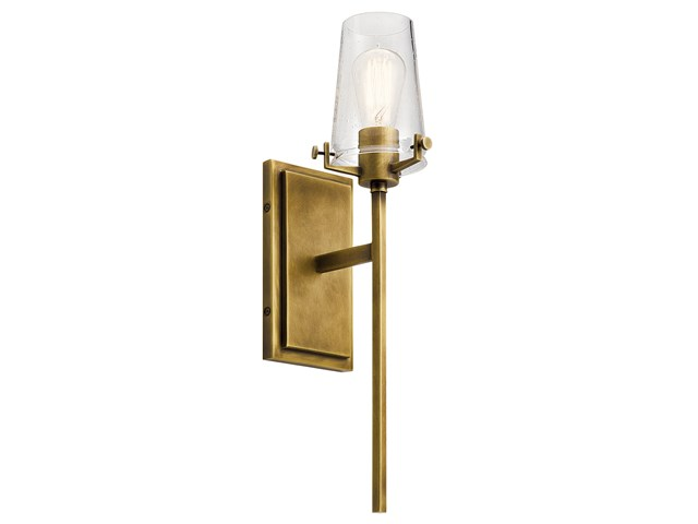 Alton™ 1 Light Wall Sconce Natural Brass