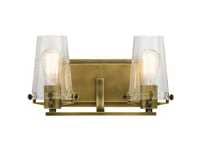 Alton 2 Light Vanity Light Natural Brass