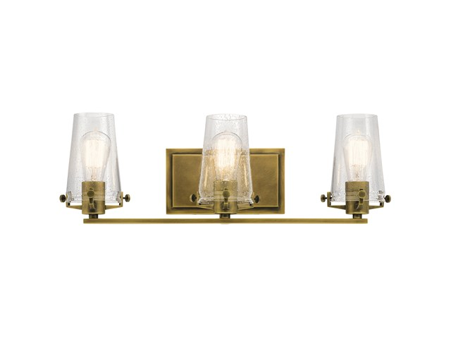 Alton 3 Light Vanity Light Natural Brass
