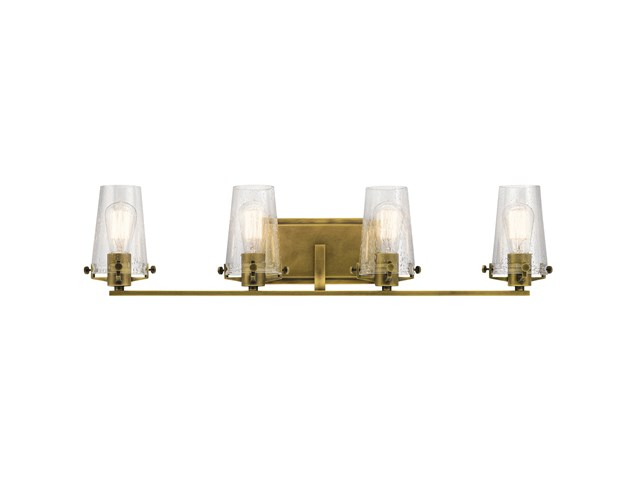 Alton 4 Light Vanity Light Natural Brass