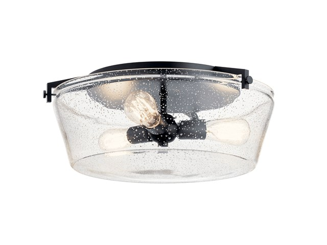 Alton 3 Light Flush Mount in Black