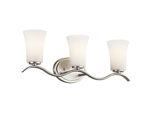 Armida™ 3 Light Vanity Light with LED Bulbs Brushed Nickel