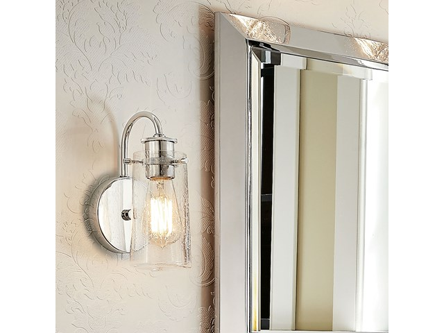 "Braelyn 9.5"" 1 Light Wall Sconce with Clear Seeded Glass Olde Bronze®"