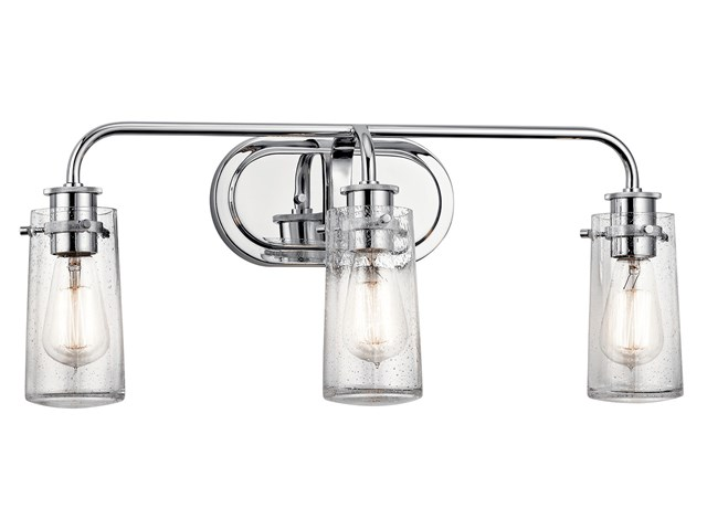 Braelyn 3 Light Vanity Light Chrome