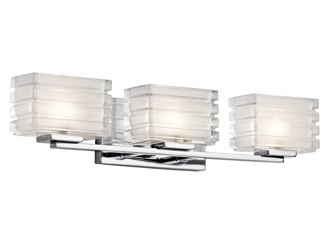 Bazely 3 Light Halogen Wall Sconce Chrome