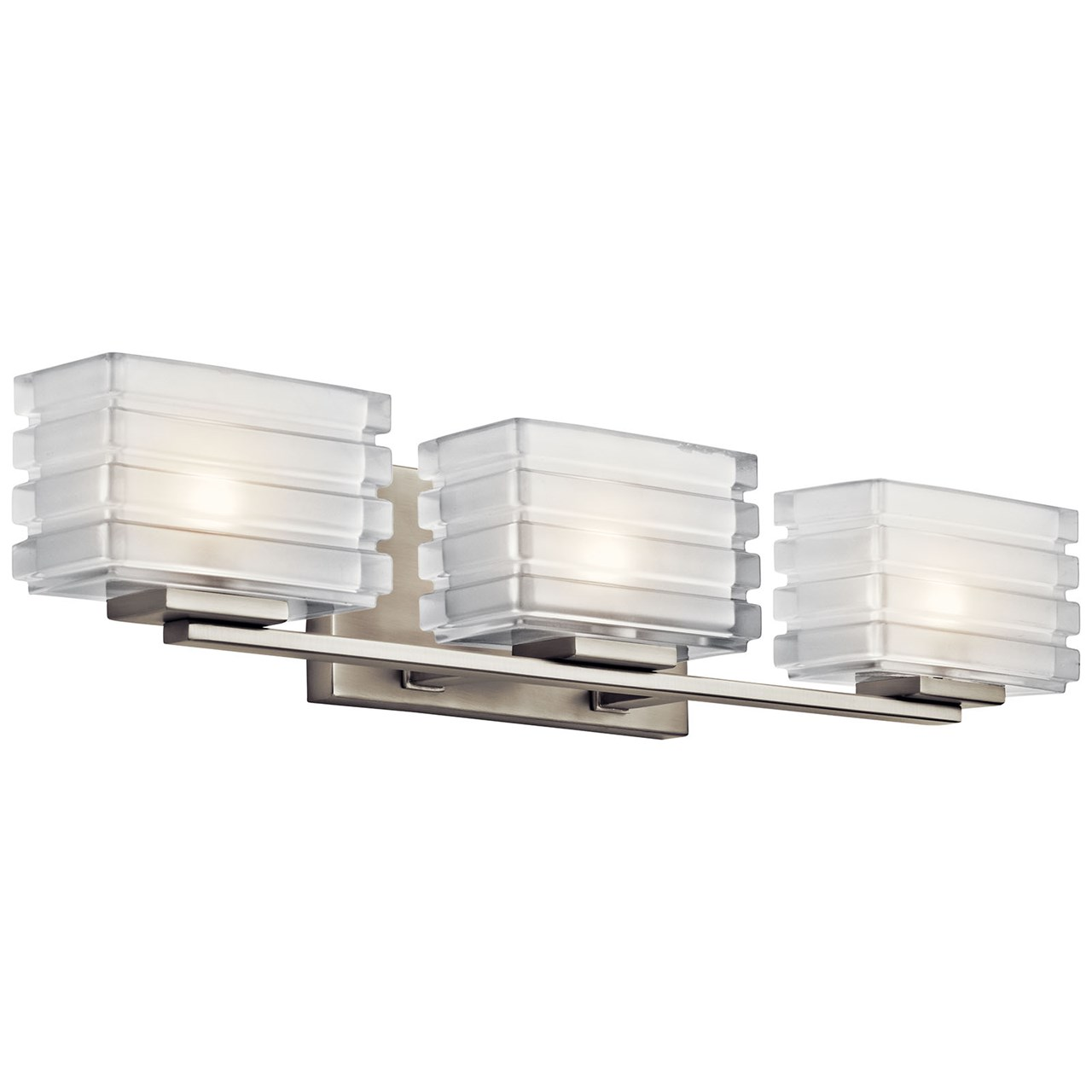 Bazely 3 Light Halogen Wall Sconce Brushed Nickel