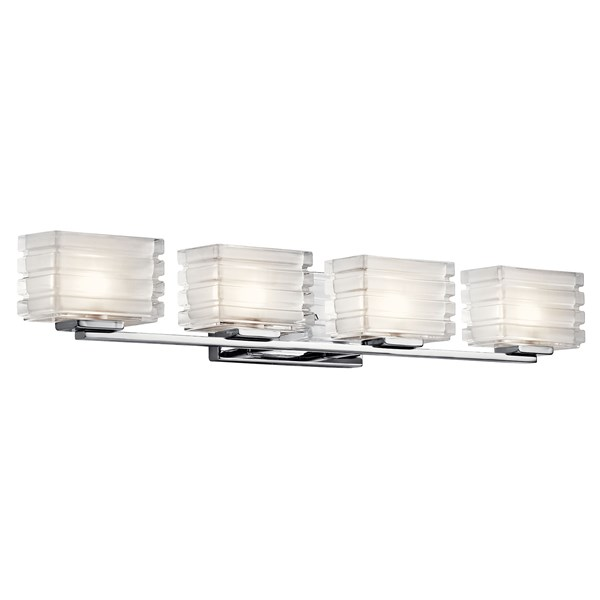 Bazely™ 4 Light Halogen Wall Sconce Chrome