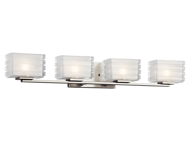 Bazely 4 Light Halogen Wall Sconce Brushed Nickel