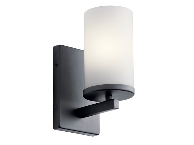 Crosby 1 Light Wall Sconce Black