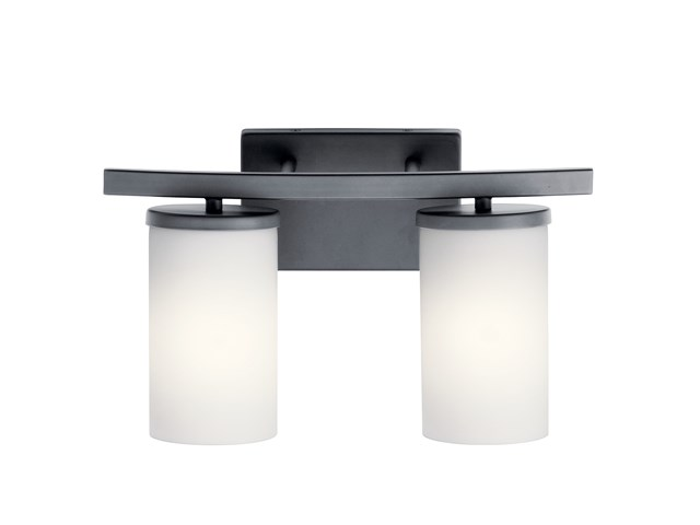 Crosby 2 Light Vanity Light Black