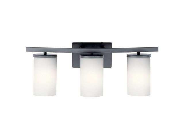 Crosby 3 Light Vanity Light Black