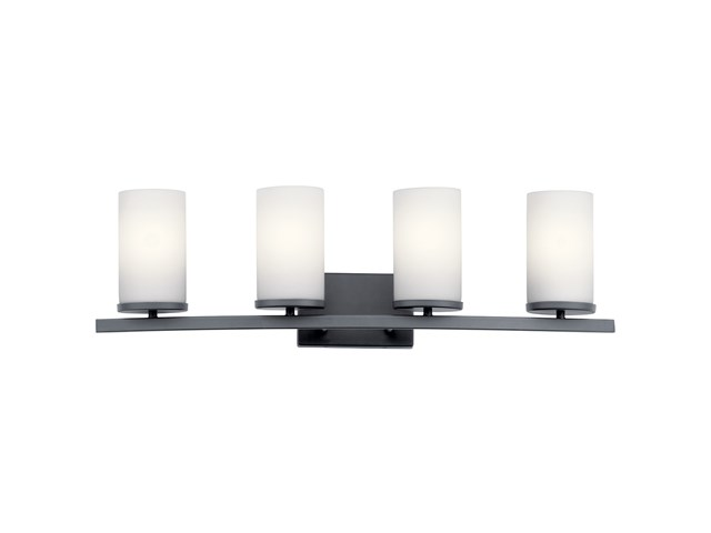 Crosby 4 Light Vanity Light Black