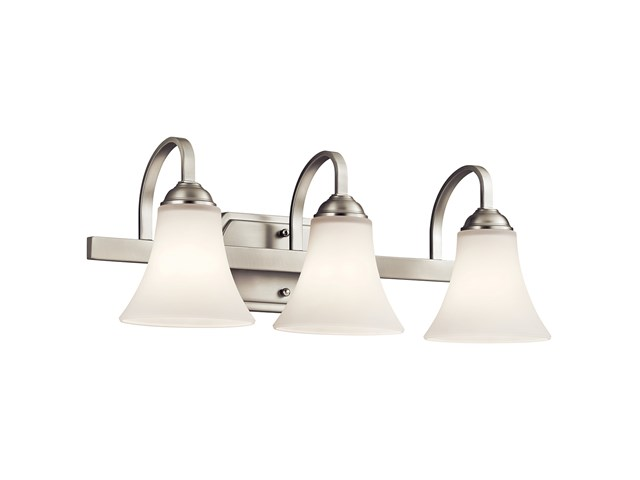 Keiran™ 3 Light Vanity Light with LED Bulbs Brushed Nickel