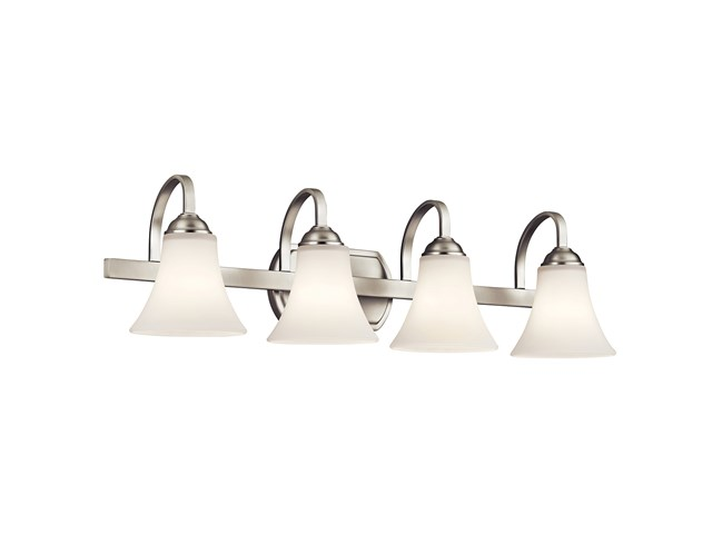 Keiran™ 4 Light Vanity Light with LED Bulbs Brushed Nickel