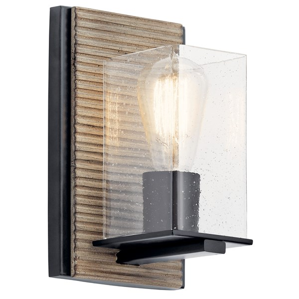 Millwright™ 1 Light Wall Sconce Distressed Antique Gray