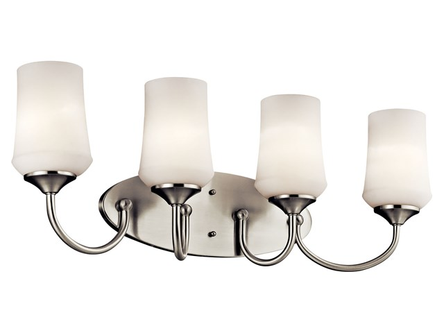 Aubrey 4 Light Vanity Light Brushed Nickel