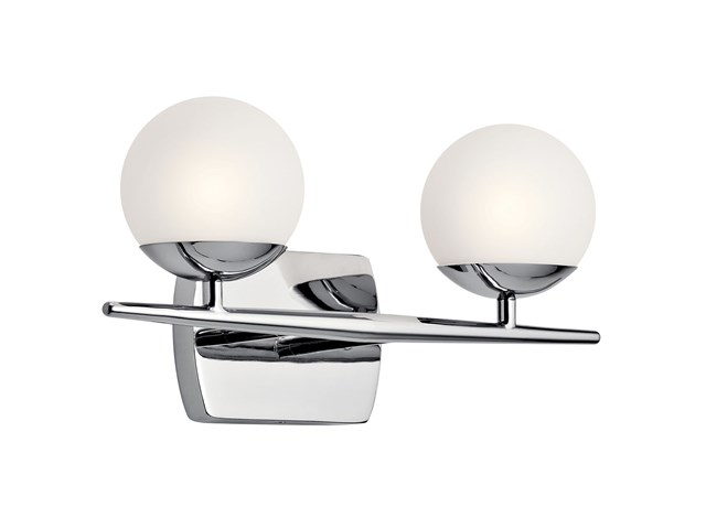 Jasper 2 Light Halogen Vanity Light Chrome