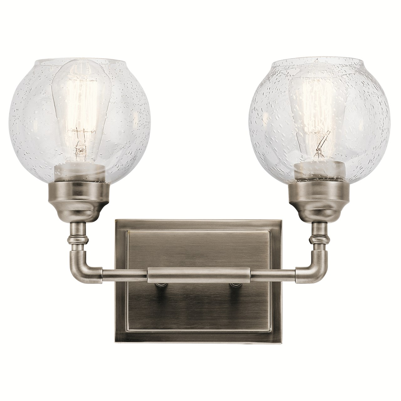 Niles 2 Light Vanity Light Antique Pewter