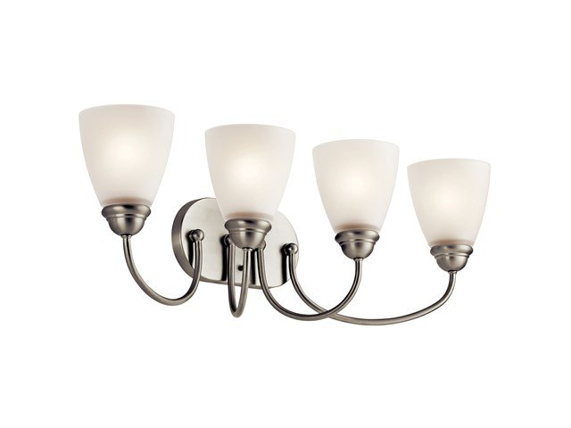 Jolie™ 4 Light Vanity Light with LED Bulbs Brushed Nickel