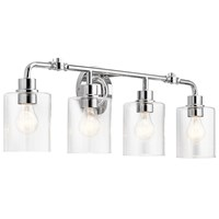 "Gunnison™ 33.75"" 4 Light Vanity Light Chrome"