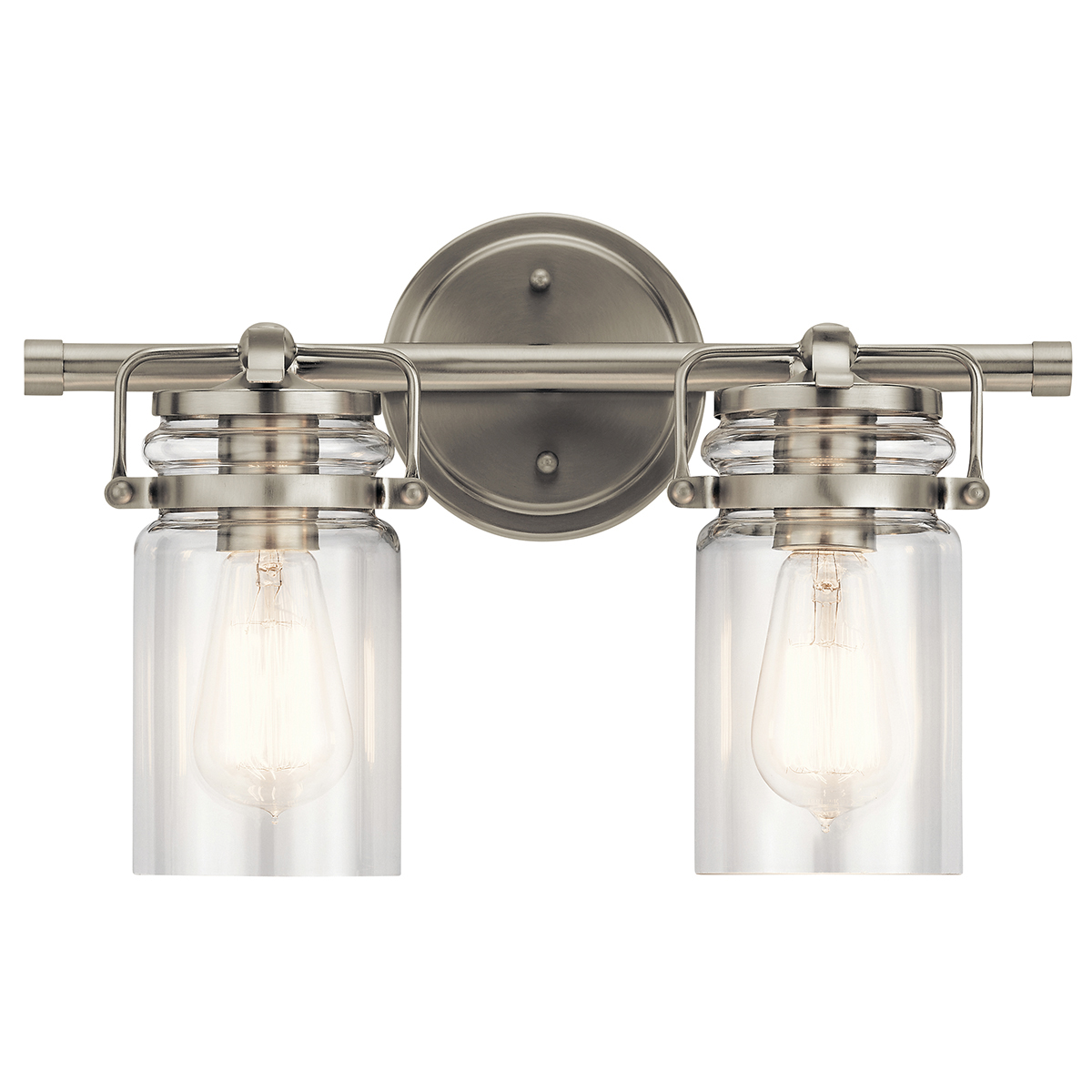 Brinley 2 Light Vanity Light Brushed Nickel Kichler Lighting
