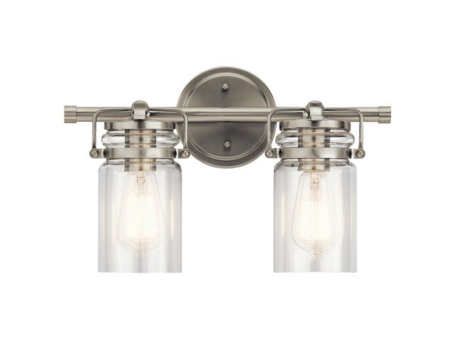 Brinley™ 2 Light Vanity Light Brushed Nickel