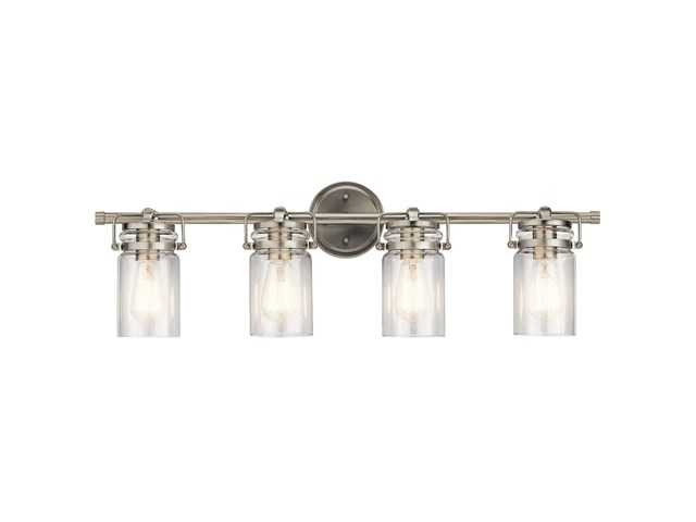 Brinley™ 4 Light Vanity Light Brushed Nickel