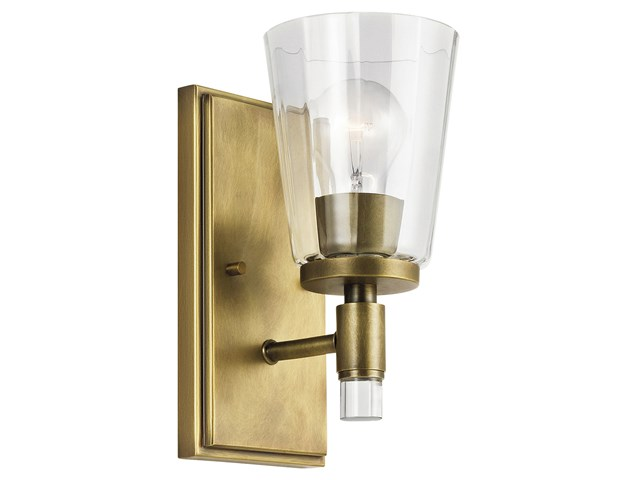Audrea™ 1 Light Wall Sconce Natural Brass