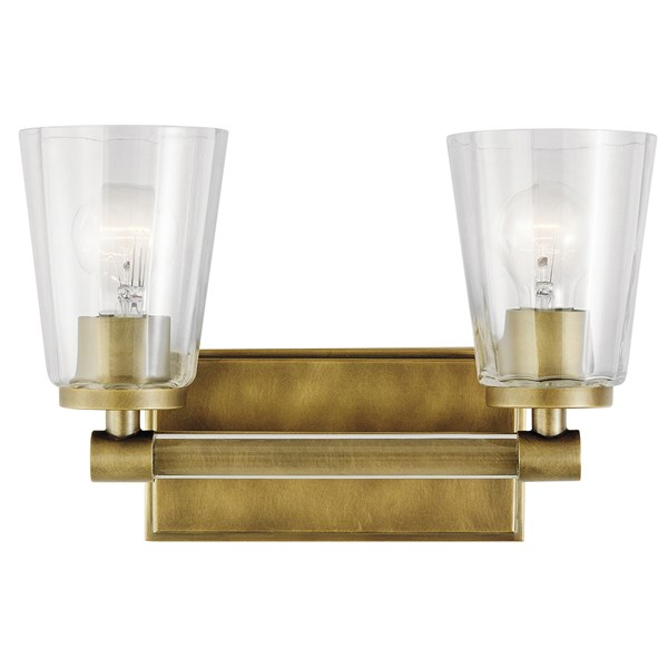 Audrea™ 2 Light Vanity Light Natural Brass