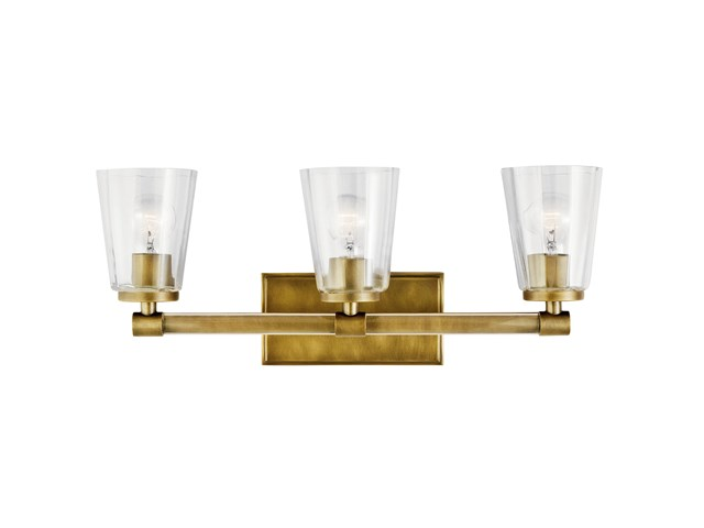 Audrea™ 3 Light Vanity Light Natural Brass