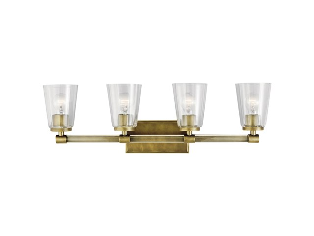 Audrea™ 4 Light Vanity Light Natural Brass