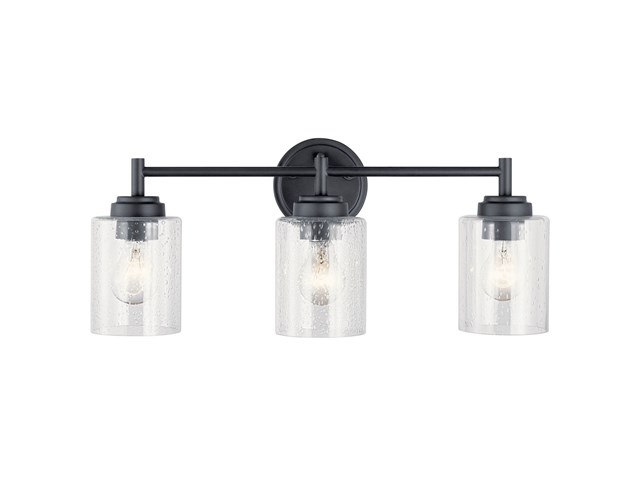 Winslow 3 Light Vanity Light Black